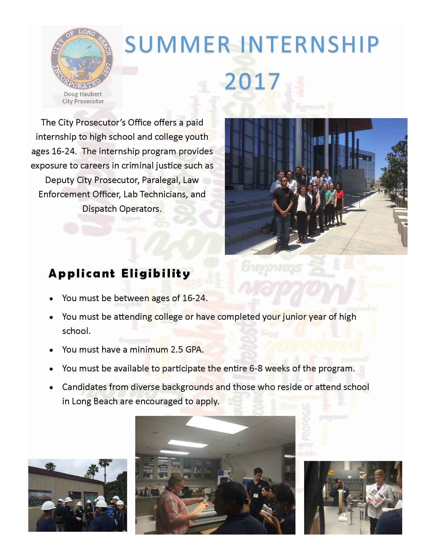 Summer Housing Intern Job Description U2013 Smith College This Page Provides A Job  Description For The Science Intern, Laboratory Based Research Summer ...